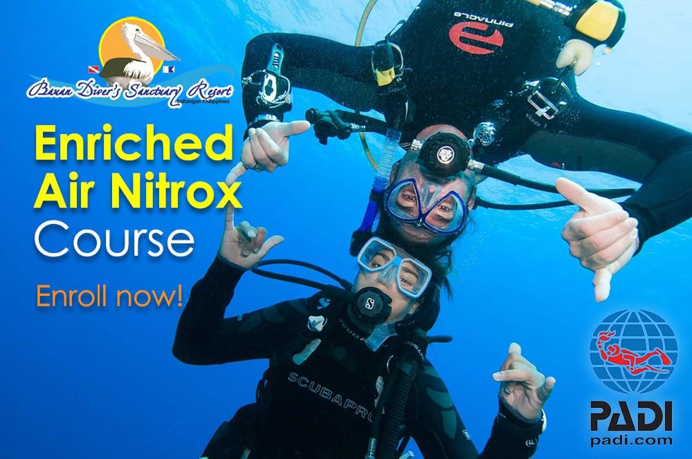 Padi Enriched Air Nitrox Course Divers Sanctuary Resort